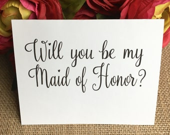 Will You Be My Bridesmaid, Will you be my Maid of Honor, and Matron of Honor Cards, Bridal Party, Wedding, Bridesmaids Card