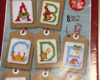 Magical Monogram gift tags - X stitch monogram!