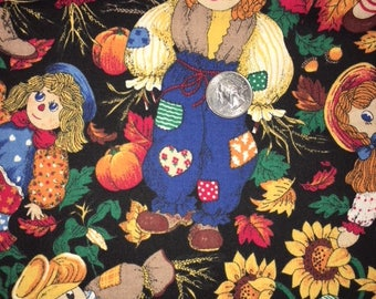 Scarecrows in the fall - Quilting Cotton