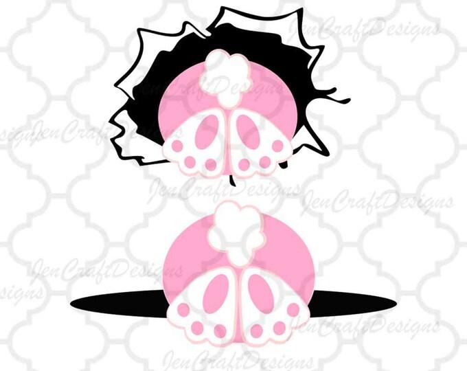 Bunny SVG Down The Rabbit Hole SVG Frame, Bunny Easter Svg, Bucket Basket Design SVG,Eps,Dxf,digital download files Silhouette Cricut