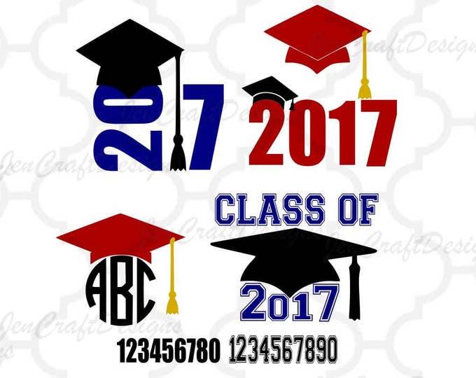 Graduation SVG, Senior, High School Graduation, Graduate, Graduating svg, monogram Frame svg, Grad Cap Svg Eps Dxf Png Silhouette, Cricut