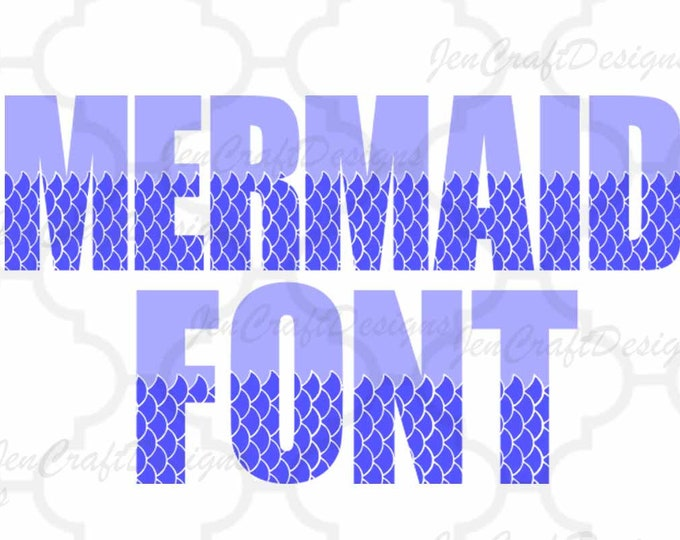 Mermaid Font SVG Fish Scales Sea Alphabet Svg/Dxf/Eps/Png Cricut Design Space, Silhouette, Digital Cut Files, Instant Download