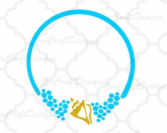 Ocean embroidery design Seashell Monogram Frame Sea bubbles Ocean Instant Download digital file in  EXP, HUS, Jef, Pes, Vip and Xxx