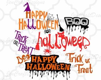 Halloween SVG Trick or Treat SVG cut files, Halloween svg Trick or Treat svg cuttable Png Svg Eps Dxf Instant Down Cricut Explore Silhouette
