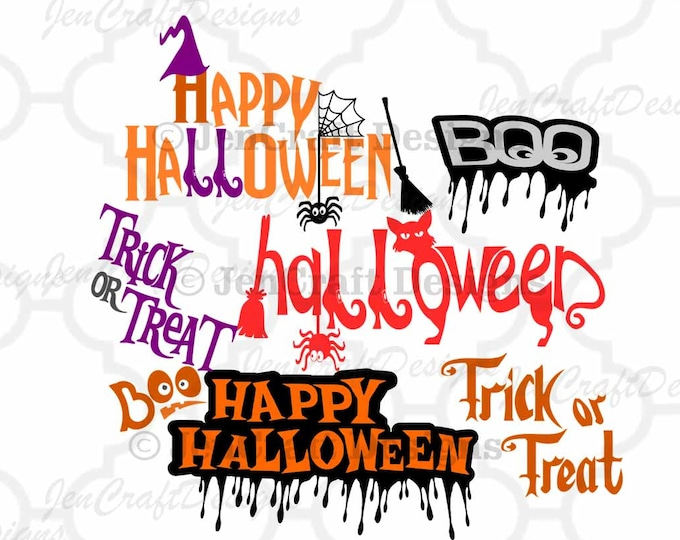 Halloween SVG Trick or Treat SVG cut files, Halloween svg Trick or Treat svg cuttable Png Svg Eps Dxf Instant Down Silhouette