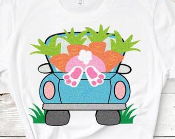 Easter svg, Easter bunny truck, Easter truck svg, Bunny in truck, bunny eggs truck, svg, Easter eggs bunny, Easter bunny, bunny svg eps dxf