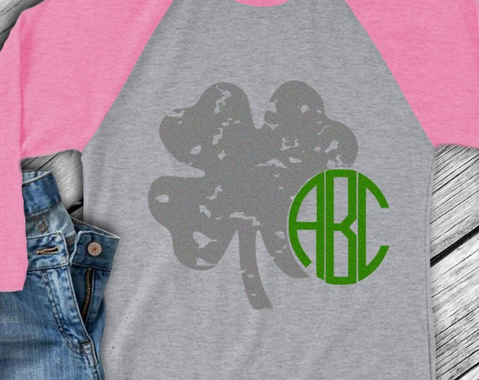 Grunge Shamrock svg, Grunge Monogram leprechaun svg Design, St Paddy's Day, St. Patrick's Day Monogram SVG, Dxf,Png, Eps Silhouette, Cricut