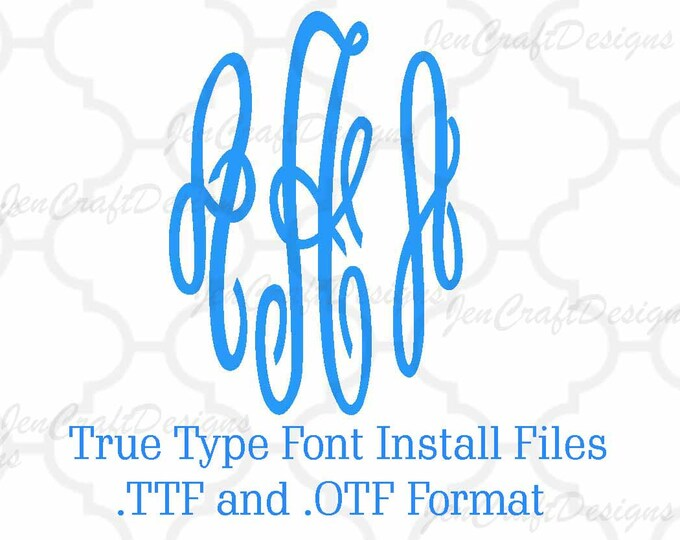 Installable Master Empress Monogram Font in True Type format .TTF & .OTF Font for Cricut, Design Space, Microsoft Word and more