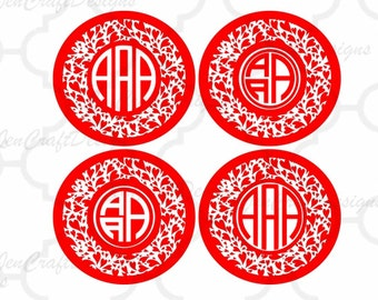 Valentine's Day Hearts svg, Valentine's Day Heart Round Monogram Frame SVG EPS Png DXF, Cricut, Silhouette Studio, Digital Cut Files