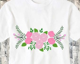 Flower SVG, roses SVG, floral svg, spring floral SVG, rose svg, Svg png dxf Eps flowers svg, flower dxf, rose flower svg Cricut SIlhouette