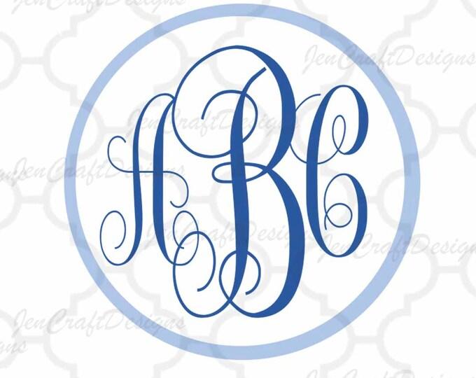 Curly monogram, Round Font SVG, DXF Eps, jpg Alphabet Cuttable svg, interlocking font. Silhouette, Cricut design space Instant Download
