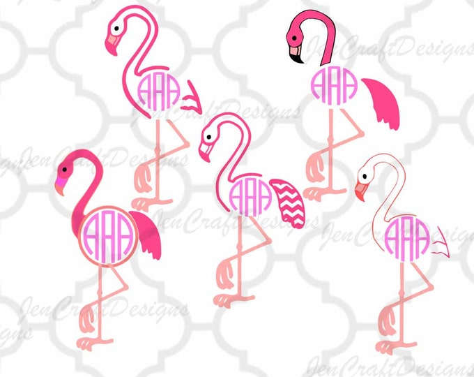 Flamingo svg Monogram SVG, Summer  SVG, Ai, Jpg, Dxf, Eps, Png Cricut Design Space, Silhouette, Digital Cut Files, Instant Download