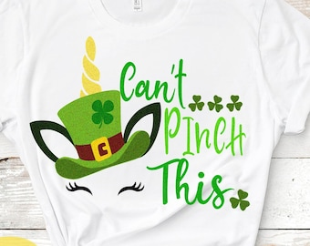 St. Paddys Can't Pinch This, School, No Pinching svg, St Patricks Day svg, Unicorn svg, Shamrock svg, Cricut Silhouette, digital SVG DXF PNG