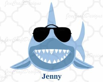 Shark svg, sunglasses svg, shark teacher svg, boy shark, summer svg, beach svg, Cricut, Silhouette, boy, shark sunglasses, beach, dxf