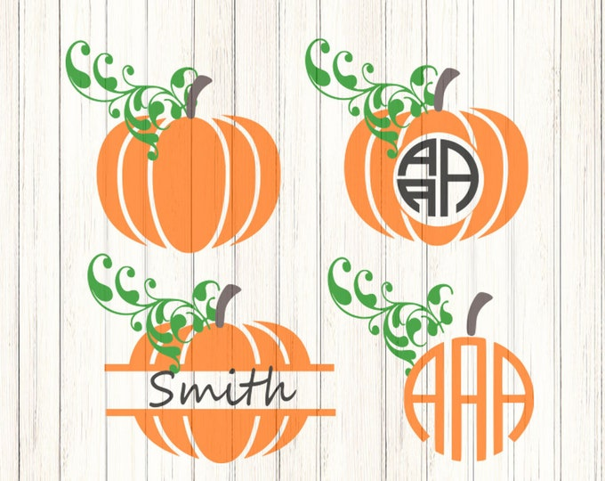Fall Pumpkin svg  Thanksgiving Halloween Autum cut files SVG, DXF, EPS, Png Silhouette Studio and Cricut Design Space.