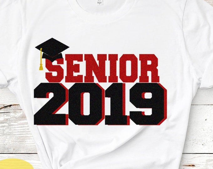 Senior CLASS of 2019 SVG, Senior Class svg, Graduating, Grad Cap, Senior Week svg, eps, dxf, png Silhouette, Cricut Cut files