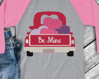Valentine Heart Truck SVG Antique Vintage truck SVG, valentine svg classic truck svg DXF, eps, png Cut File for Silhouette, Cricut