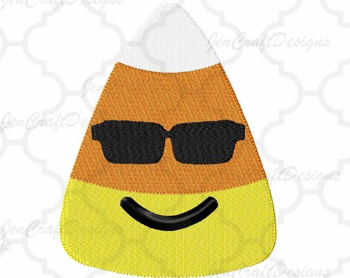 Halloween Candy Corn with Shades Embroidery Design, Fall Instant Download digital file in  EXP, HUS, Jef, Pes, Vip and Xxx
