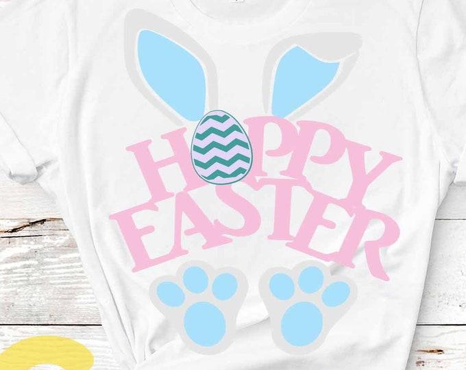 Easter SVG, Hoppy Easter, Bunny Ears, Happy Easter svg, Basket design Easter Rabbit Svg cut file Easter shirt design svg, Dxf, Eps Png
