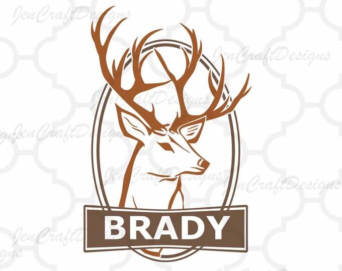 Deer Frame Monogram SVG Cutting File, Hunting Svg Buck Svg, Png, Eps,Dxf Files, Vector Art, Cricut DS, Silhouette Studio, Cut Files