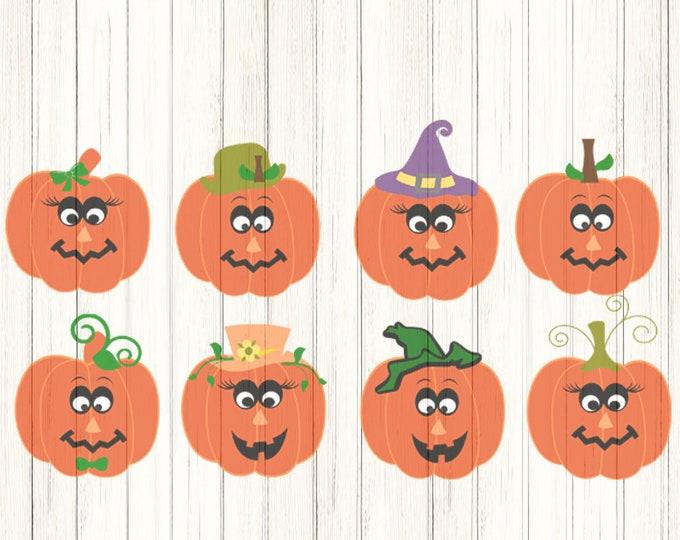Pumpkin svg face SVG lady and man face SVG Halloween Svg File digital cut file Pumpkin svg, DXF, Eps, Png, Studio Fall Svg, Instant Download
