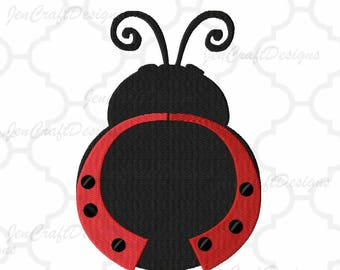 Ladybug Embroidery monogram frame. Ladybug pattern, INSTANT DOWNLOAD digital file in Pes, Exp, Vip, Hus, XXX and Jef