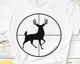 Deer SVG, Buck in Gun sights, Crosshair Cutting File, Hunting Svg, PNG, EPS, Dxf Files, Vector Art, Cricut, Silhouette, Digital Cut Files