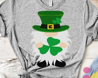 St. Patrick's Day SVG, St. Patrick's Day Gnome SVG, Irish Gnome svg, St. Paddy's Day, St Pattys day Leprechaun SVG, svg Files Eps, Dxf Png