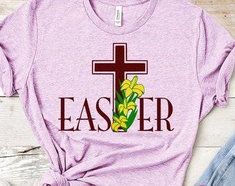 Easter Cross SVG, Christian Cross Svg, Easter SVG, Spring Svg, EPS, Dxf, Png. Svg