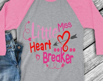 Little Miss Heart Breaker SVG, Valentine's Day Svg, Valentine Svg, Heart, Baby Girl, Love, Toddler, Svg, Dxf, Eps, Png, Cricut, Silhouette