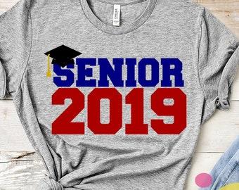 Senior 2019 SVG, Senior Class svg, Graduate, Graduating, Senior Svg, Senior 2019 Svg, Class Of 2019 Svg Grad Cap, svg, eps, dxf, png