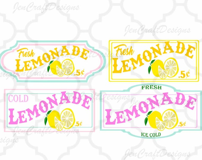 Lemon Svg, Lemonade SVG, lemonade stand sign art bundle Fresh Lemonade svg, cuttable Design, Cricut Silhouette SVG, Eps, Dxf, Studio, Png