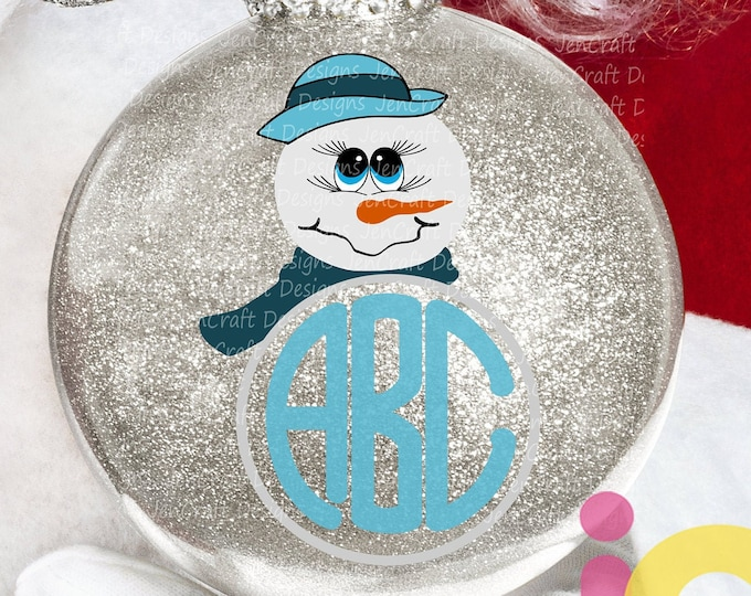 Christmas svg Snowman face Monogram svg Popular Girl Snowman face Svg, Christmas SVG Snow Man Digital cut file Dxf Eps Png Instant Download