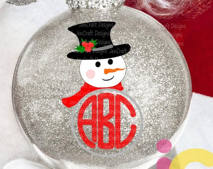 Snowman Monogram Christmas svg Popular Snowman face Svg, Christmas SVG Snow Man Digital cut file Dxf Eps Png Instant Download