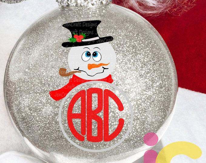 Snowman Christmas svg Monogram svg Popular Snowman face Svg, Christmas SVG Snow Man Digital cut file Dxf Eps Png Instant Download
