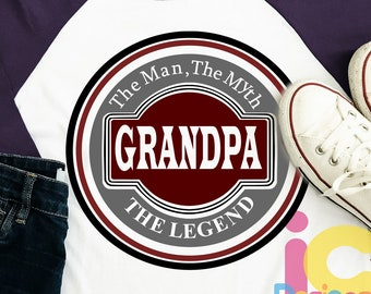 Grandpa Svg, The Man The Myth The Legend Fathers Day SVG, Father, Daddy SVG, DXF, Eps  Cricut Files, Silhouette Studio, Digital Cut Files