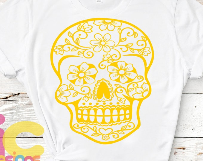 Cinco De Mayo SVG Sugar Skull Svg Halloween svg,  Day of the Dead Fiesta SVG  eps, dxf and PNG Format for Cricut and Silhouette