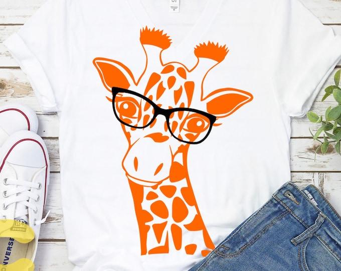 Giraffe Svg, Giraffe Face Svg, Fun Giraffe Svg, Safari Kids Svg, Giraffe Shirt Desgin Cute Fun Svg, Eps, Dxf, Png Circut Silhouette Digital