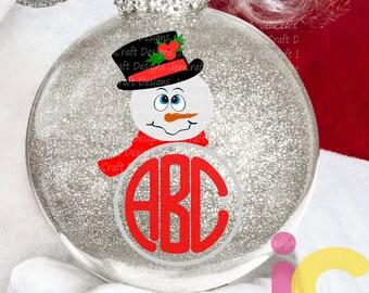 Christmas svg, Top hat Snowman Monogram svg Popular Snowman face Svg, Christmas SVG Snow Man Digital cut file Dxf Eps Png Instant Download