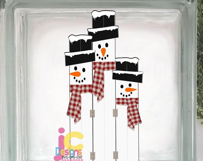 Snowman svg, Cute Snowman face SVG Fence Post Sign wood plank snowman Christmas Snow Man Digital cut file Dxf, Eps, Png Instant Download