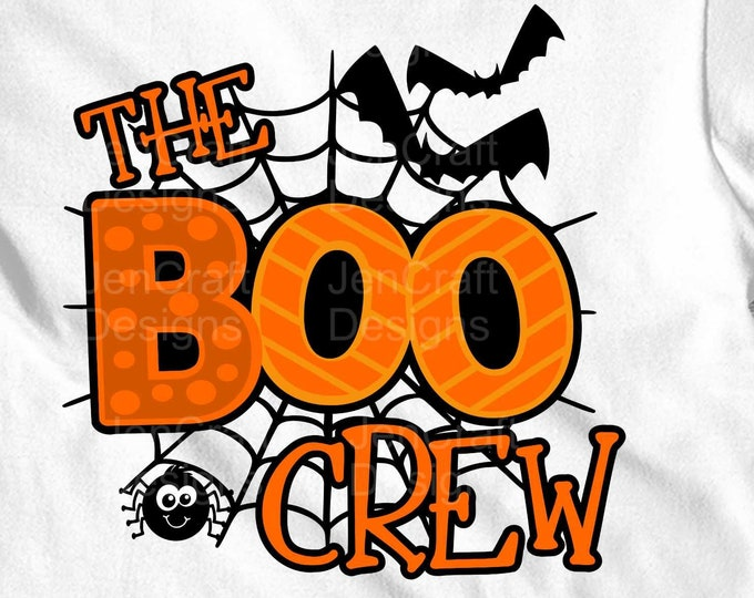 Halloween svg, The Boo Crew Trick or treat svg,  Funny Cute Kids Shirt Design svg, eps, dxf, png cut files for Cricut, Silhouette