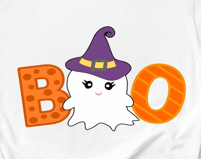 Halloween svg, Boo Ghost svg saying, ghost svg, cute ghost fall autumn svg eps dxf, girly, baby, PNG, Cricut, Silhouette, Cut File Clip art