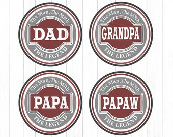 Dad SVG, The Legend Fathers Day Svg, Fathers Day Shirt, Gift, Daddy, SVG DXF Jpg Eps Vector Art Cricut Files Silhouette, Digital Cut Files
