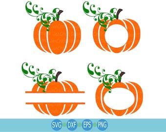 Pumpkin SVG , Fall Pumpkin Bundle Svg, Cricut Silhouette Cutting Files, Svg Files, Thanksgiving clipart, Pumpkin set Svg, Dxf, Png, Eps set