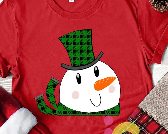 Christmas svg Peeking Snowman SVG,EPS Png DXF, Peeping Snowman digital download files for Silhouette Cricut, vector Clip Art graphics