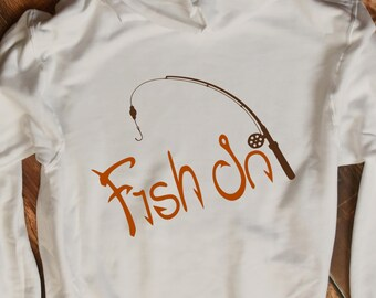 Fish On, Fishing SVG Cut Files for Vinyl Cutters, Screen Printing, Silhouette Cricut, Die Cut Machines. Svg, Dxf, Eps, Png, Ai, Jpg