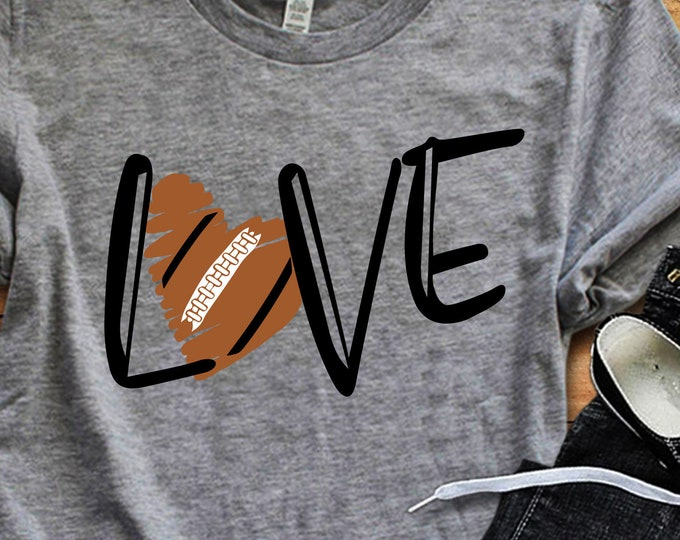 Football SVG, football mom svg Shirt design, love football, football cut file, football sister svg, football mama shirt