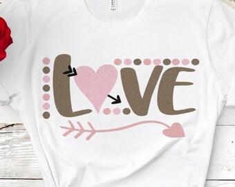 Love SVG, Valentine SVG, Wedding Svg, Heart Arrow svg, Engagement svg, Valentines svg, Baby, Cupid EPS, Dxf, Png