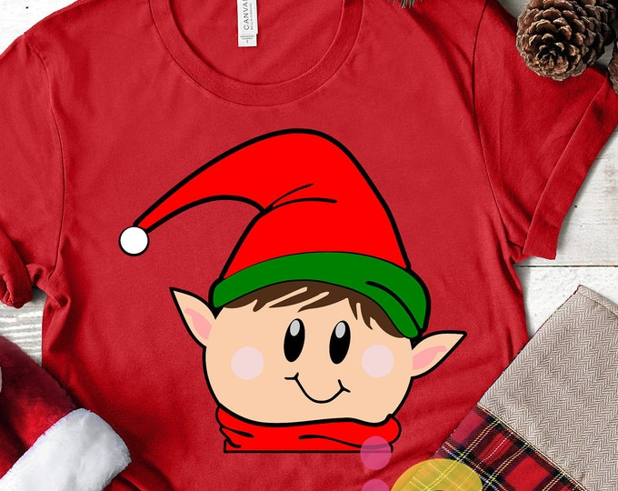 Christmas svg, Peeking, Elf, christmans, xmas,Elf SVG,Peeping, Elf digital, Silhouette, Cricut, vector, Clip Art, graphics
