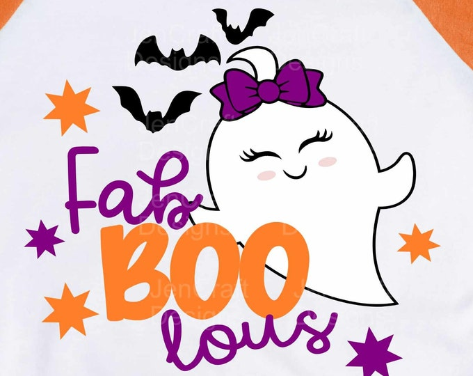 Fab Boo Lous SVG, Halloween SVG, Ghost SVG Trick or treat svg, eps, dxf, png cut files for Cricut, Silhouette